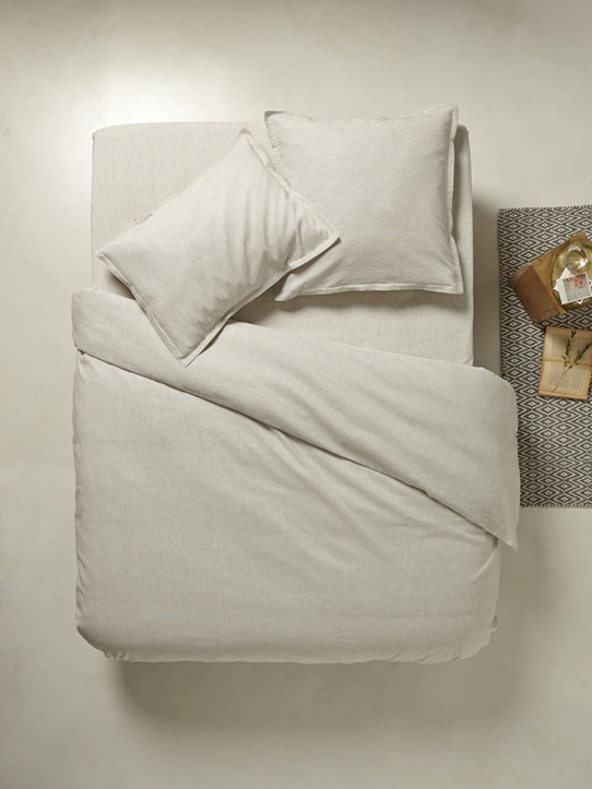 Home-Bedroom-Bed sets-STRIPED COTTON-LINEN MIX BED SET