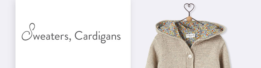 Babies' sweaters and cardigans