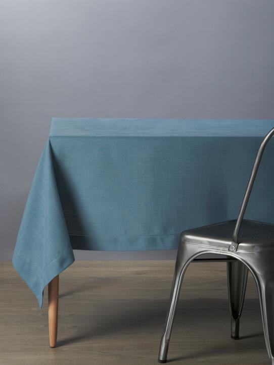 Home-Table decoration-Tablecloths, napkins-LINEN-LOOK STAIN-RESISTANT TABLECLOTH