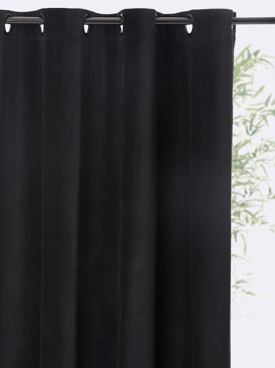 Retro chic style-Home-VELOUR RING TOP CURTAIN