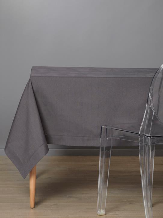 Home-Table decoration-LINEN-LOOK STAIN-RESISTANT TABLECLOTH
