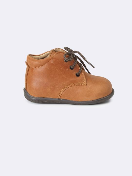 Babies-Birth-BABY'S LEATHER  ANKLE BOOTS