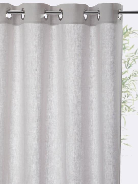Home-Decoration-Curtains-RING TOP LINEN CURTAIN