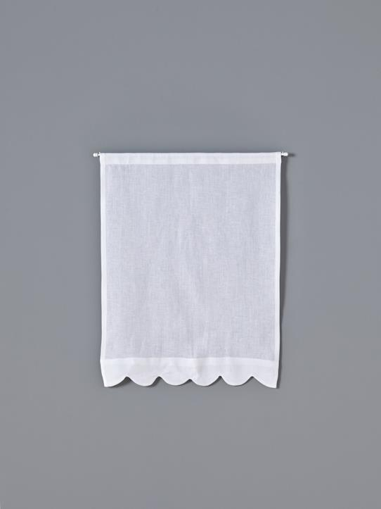 Home-Decoration-Curtains-SCALLOPED LINEN HALF CURTAIN