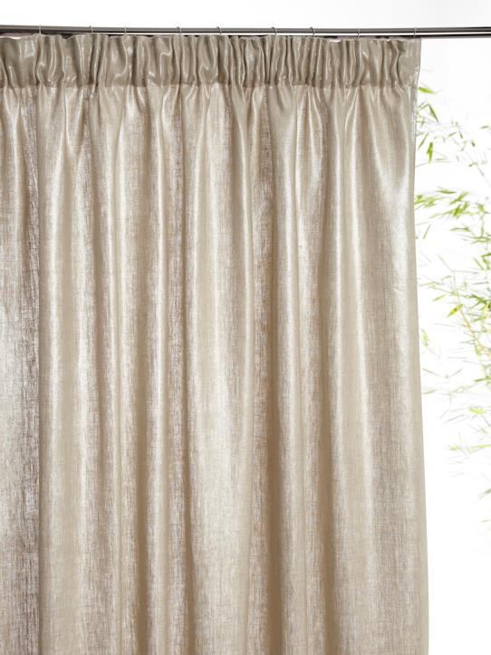 Home-Decoration-Curtains-METALLIC LINEN CURTAIN WITH PLEATED HEADER