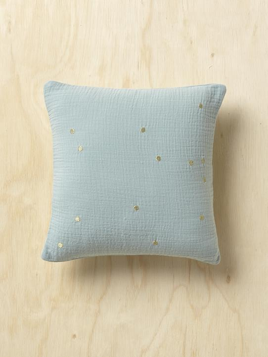Home-Textured cushion with golden spots