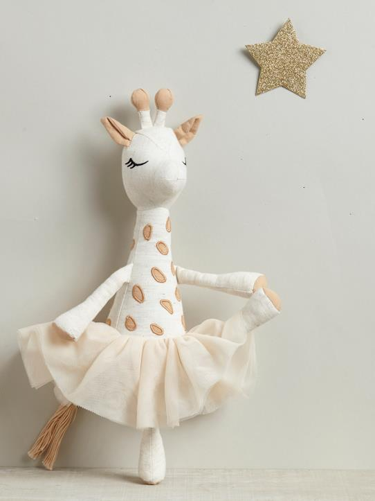 Babies-Bedtime & Bathing-Cuddly giraffe with tutu