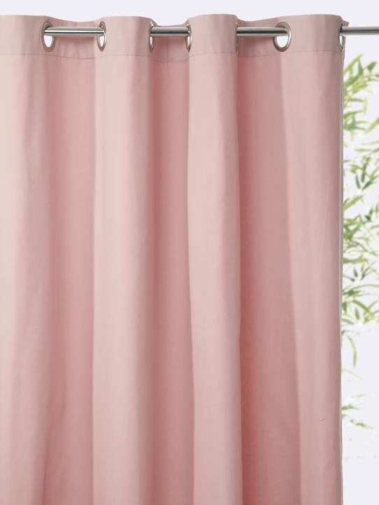 Home-Decoration-Curtains-PLAIN COTTON CURTAIN WITH EYELET HEADER
