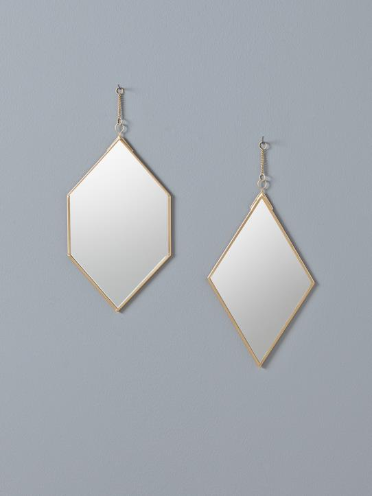Home-Decoration-Accessories-SET OF 2 GOLDEN MIRRORS