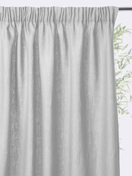 Home-Decoration-Curtains-GATHERED LINEN CURTAIN