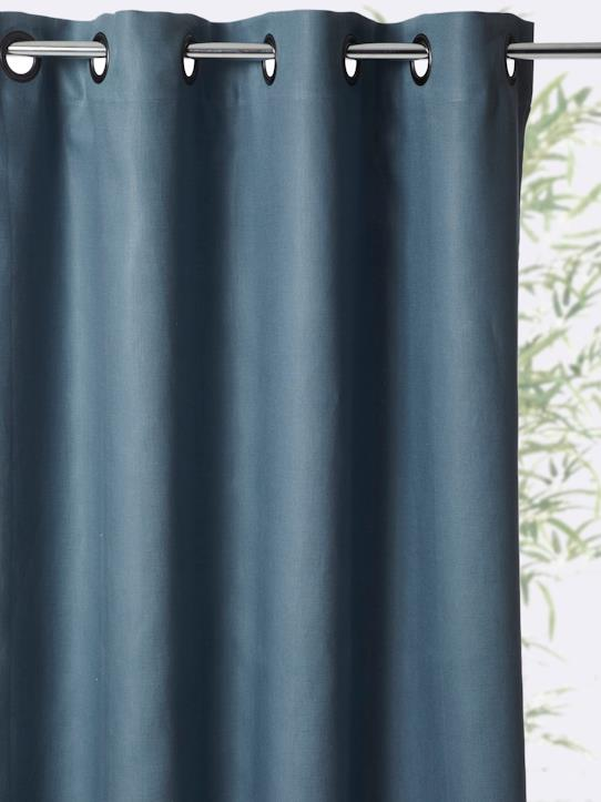 Home-Decoration-Curtains-LINED LINEN CURTAIN WITH EYELET HEADER