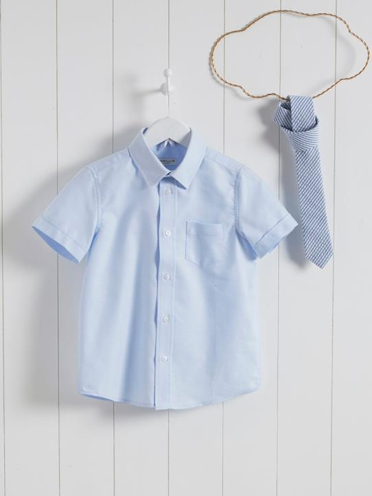Wedding & Ceremonies collection-Boys-BOY'S SHORT-SLEEVED OXFORD SHIRT